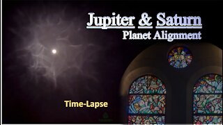 Merry Christmas! -Jupiter and Saturn 'The Great Conjunction' Time-Lapse