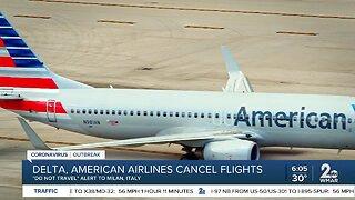 Delta, American Airlines cancel flights