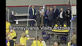 Pennsylvania Delegation visits the Arizona Audit