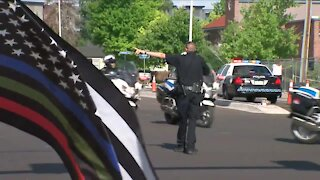 Law enforcement, community pay respects to falled Arvada officer