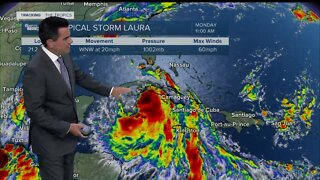Tropical storms Marco, Laura pose double threat to Gulf Coast
