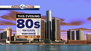 Metro Detroit Forecast: Humidity dropping; mid 80s today