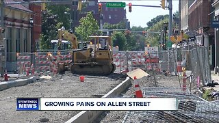 Local business owners are concerned about construction on Allen Street