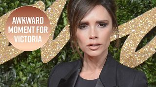 Awkward: Victoria Beckham mixed up these two celebs