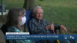 Couple waiting to move back into home