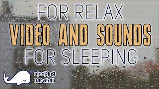 🎧🌦 Rain sounds for sleeping. Relaxing sound, video rain asmr.