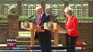 President Trump and British Prime Minister Theresa talk NATO and Brexit