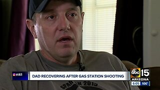 Dad recovering after gas station shooting