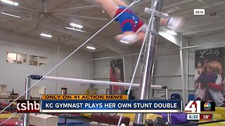 KC gymnast plays her own stunt double
