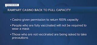 Rampart Casino back to 100% capacity, effective immediately