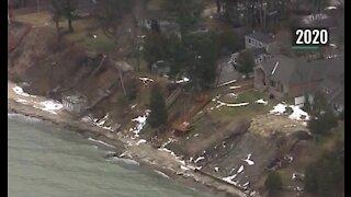 Great Lakes shorelines still eroding 1-2 feet per year despite lower water levels