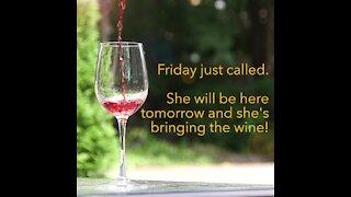 Friday called, shes bringing wine [GMG Originals]
