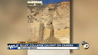 Crumbling cliff caught on camera in Solana Beach