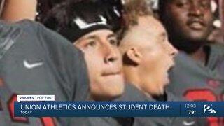 Union Athletics announces student death