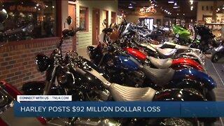 Harley-Davidson loses $92 million in second quarter