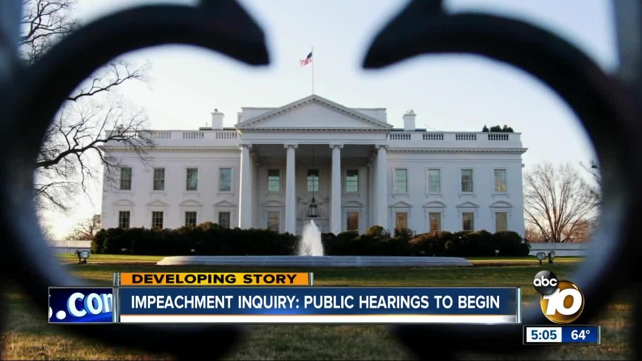 Public hearings to begin in impeachment inquiry