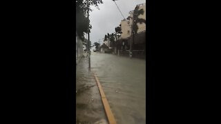 Heavy flooding and strong winds in Playa Del Carmen