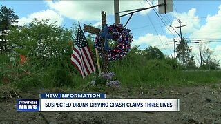 Suspected drunk driving crash claims three lives