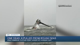 Coast Guard search: 12 missing in ship capsize off Louisiana