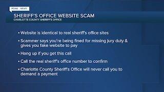 Sheriff's Office website scam