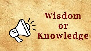 Fast Word - Wisdom or Knowledge