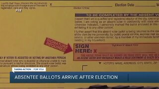 Absentee ballots arrive after the election