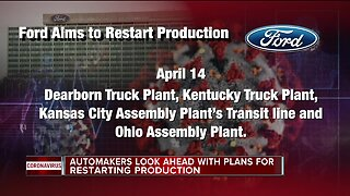 Ford aiming to restart production at Dearborn, Sterling Heights plants on April 14
