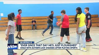 A child with autism's life changes after playing sports
