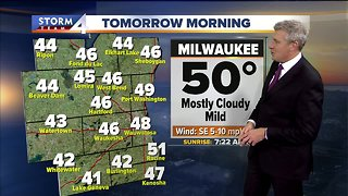 Showers likely Tuesday afternoon