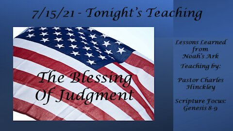 The Blessing of Judgment - 7.15.21