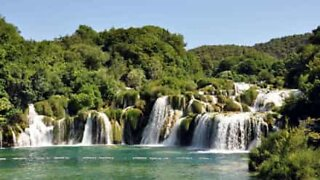 Diners in Croatia are served a waterfall with their meal