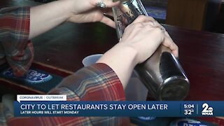 City to let restaurant stay open later