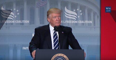 President Trump speaks at Faith and Freedom Coalition 2017
