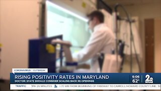 Rising positivity rates in Maryland