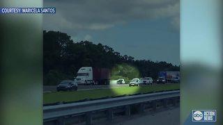 Felon arrested after causing wrong-way crash