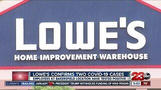 Lowe's employee tests positive