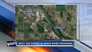 Body recovered from Snake River