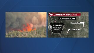 Cameron Peak Fire near Chambers Lake in western Larimer County grows to 1,540 acres
