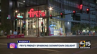 Fry's frenzy sparking downtown delight