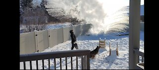 BOILING WATER IN -19 DEGREES F!!!