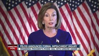 Nancy Pelosi announces formal impeachment inquiry