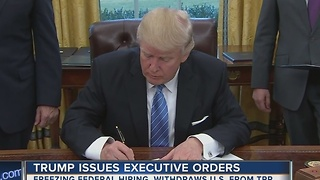 President Trump signs executive order formally withdrawing from Trans-Pacific Partnership deal