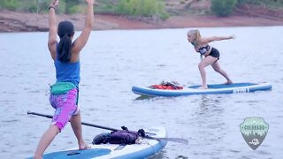 Discover Colorado: Paddleboard yoga on the Horsetooth Reservoir