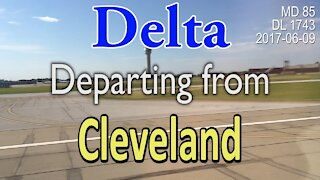 Delta flight taking off from Cleveland in MD-85 #DL1743