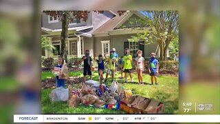 10-year-old leads neighborhood children in collecting food for nonprofit   The Rebound Tampa Bay