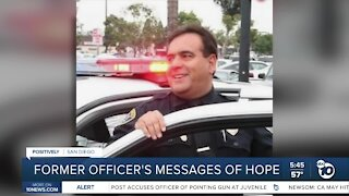 Former San Diego police officer shares message of hope as he battles disease