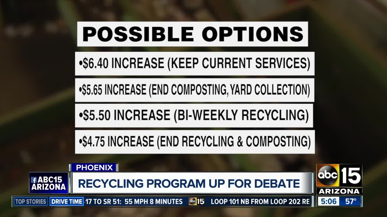 Is Phoenix ending its recycling program?