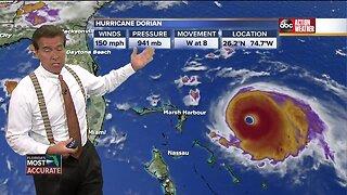 Tracking Hurricane Dorian   8pm Saturday Update