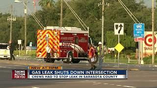Gas leak shuts down busy Sarasota County intersection