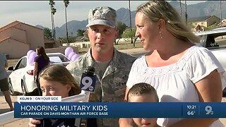 Teacher car parade honors military students